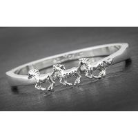 Equilibrium Country Silver Plated Horse Bangle