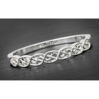 Equilibrium Celtic Eternal Silver Plated Bangle