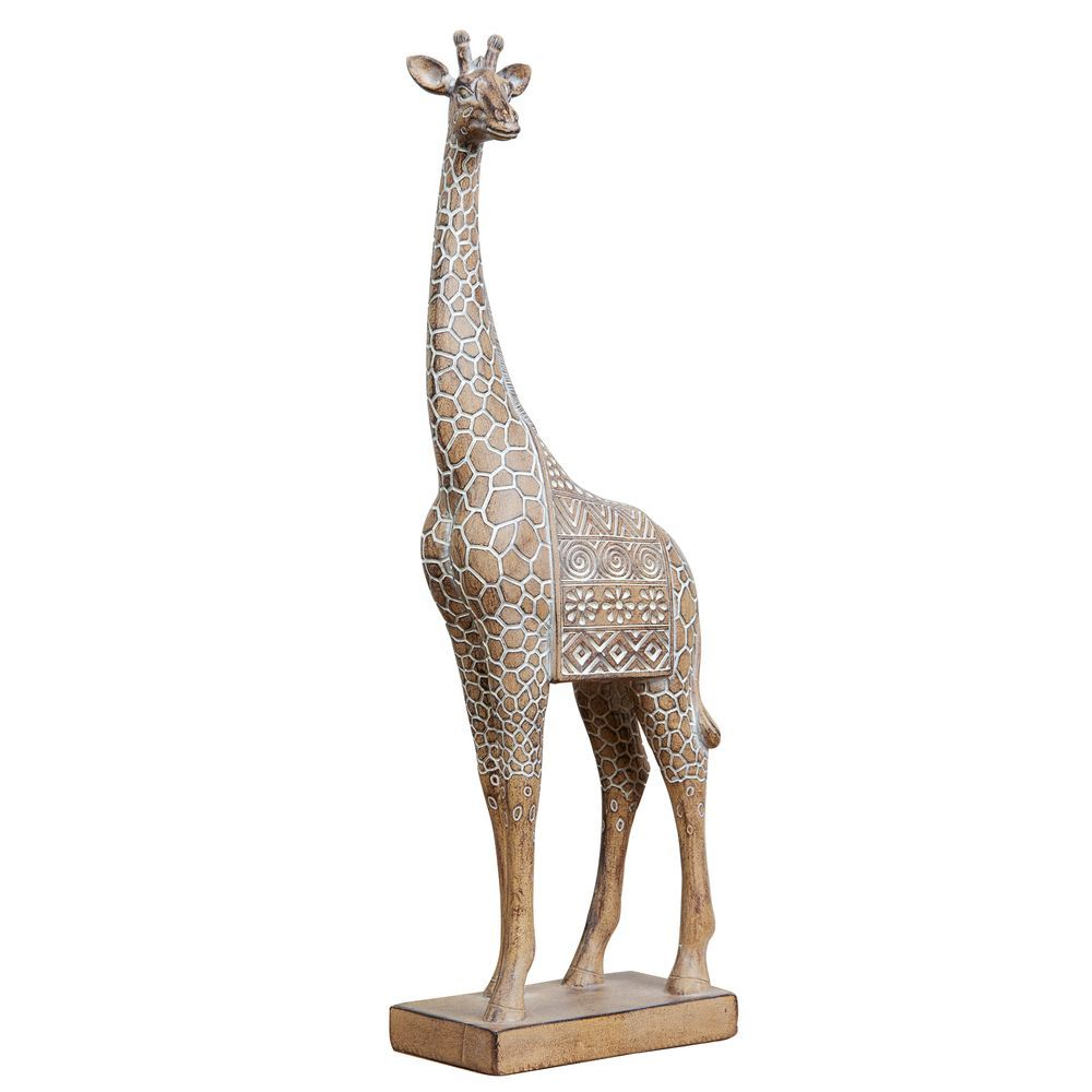 Carved Sandstone Effect Giraffe Ornament