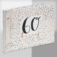 Luxe Rose Gold 60th Birthday Guest Book and Photo Album