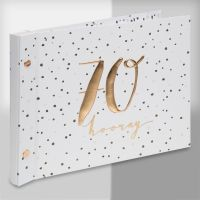 Luxe Rose Gold 70th Birthday Guest Book and Photo Album