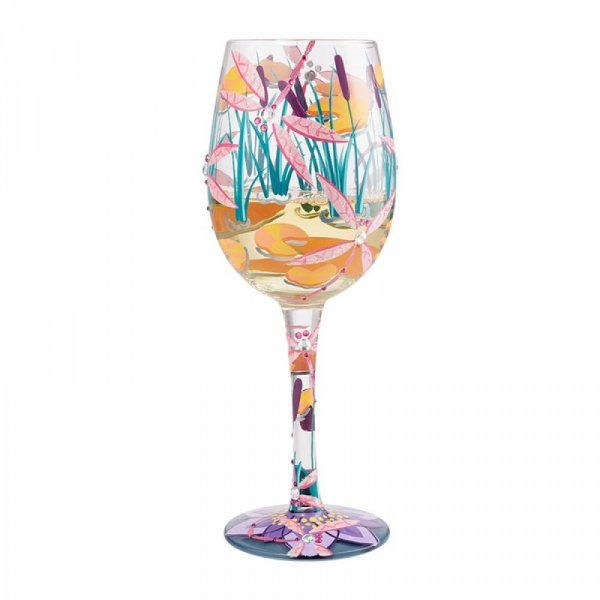 Lolita Gift Boxed Dragonfly Magic Wine Glass Gift Hand Painted