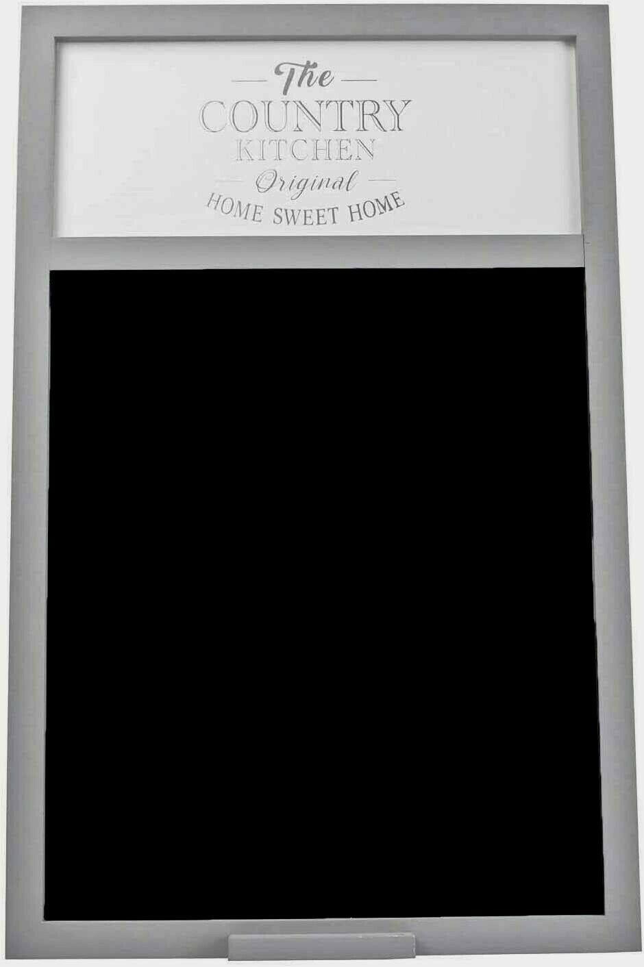 Large Grey Country Kitchen  Chalkboard Blackboard Message Board