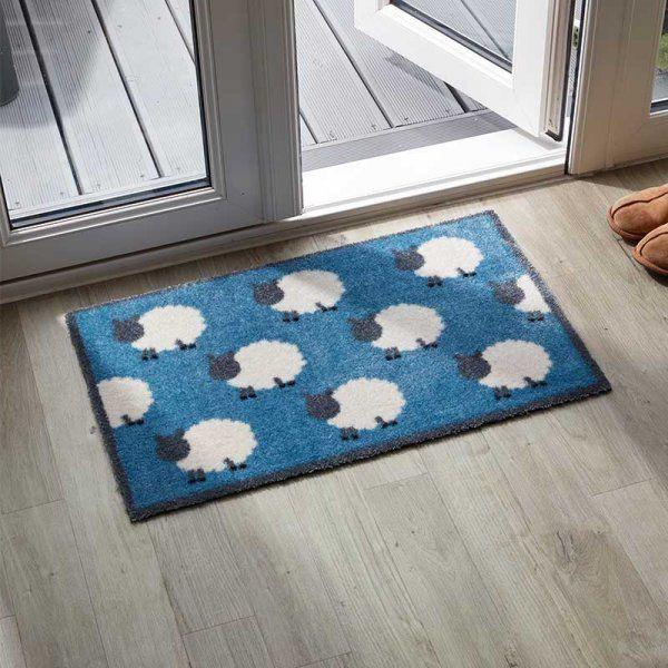 Machine Washable Counting Sheep Doormat