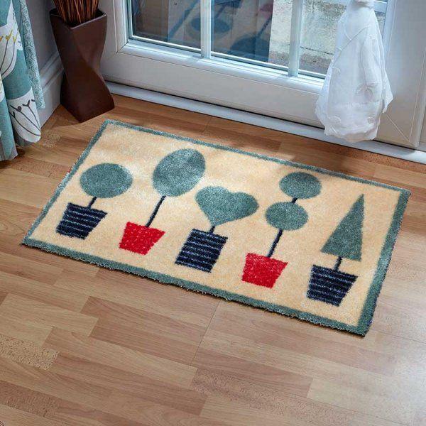 Machine Washable Topiary Doormat