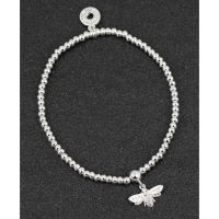 Equilibrium Honey Bee Silver Plated Bracelet