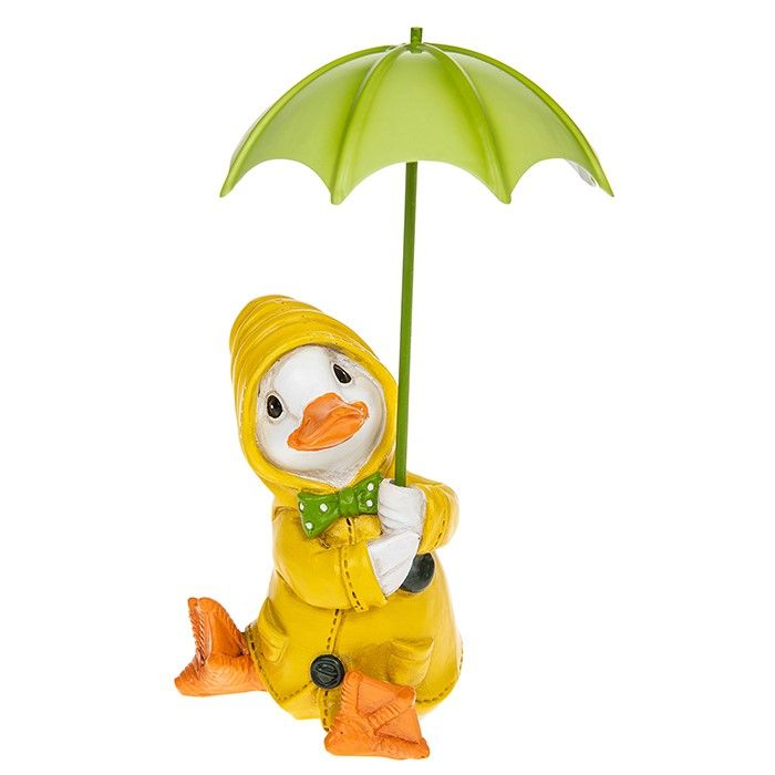 Puddle Duck with Brolly Figurine