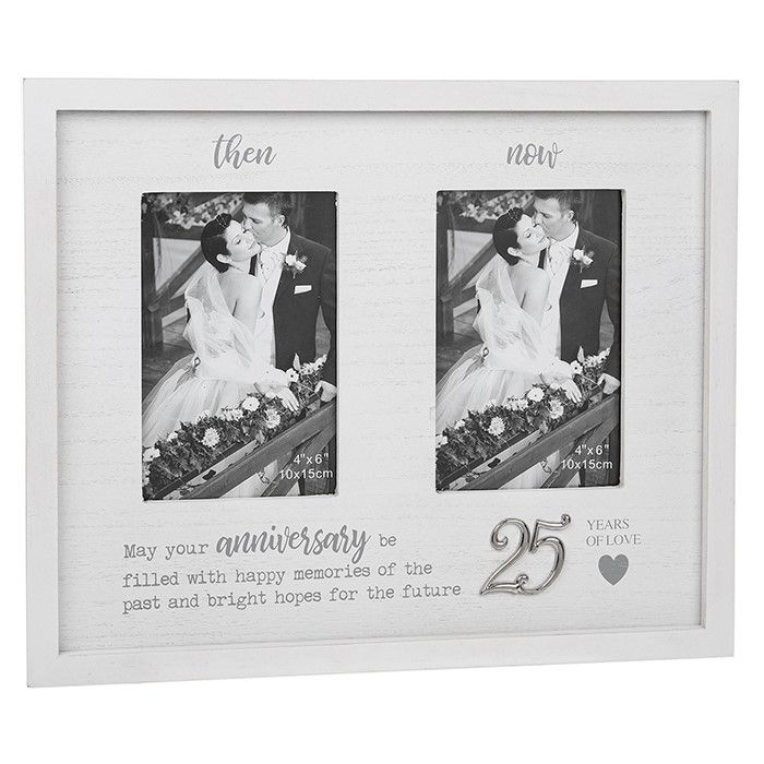 Then & Now 25th Anniversary Photo Frame