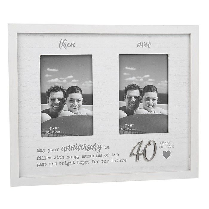 Then & Now 40th Anniversary Photo Frame