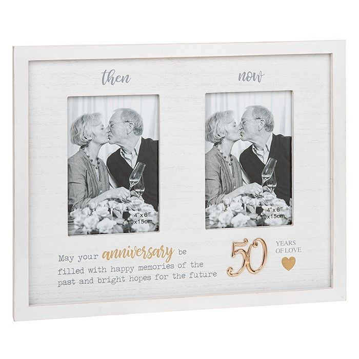 Then & Now 50th Anniversary Photo Frame