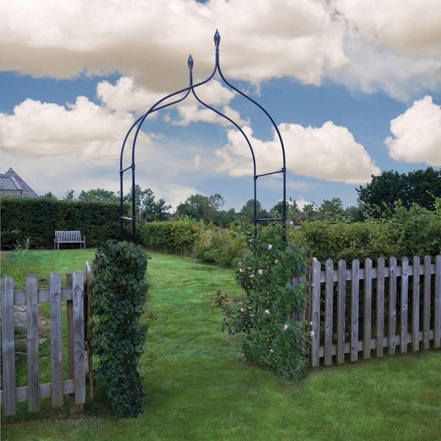 York Arch Garden Black Metal Archway