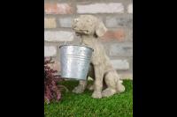 Dog Carrying Pot Garden Patio Outdoor Ornament