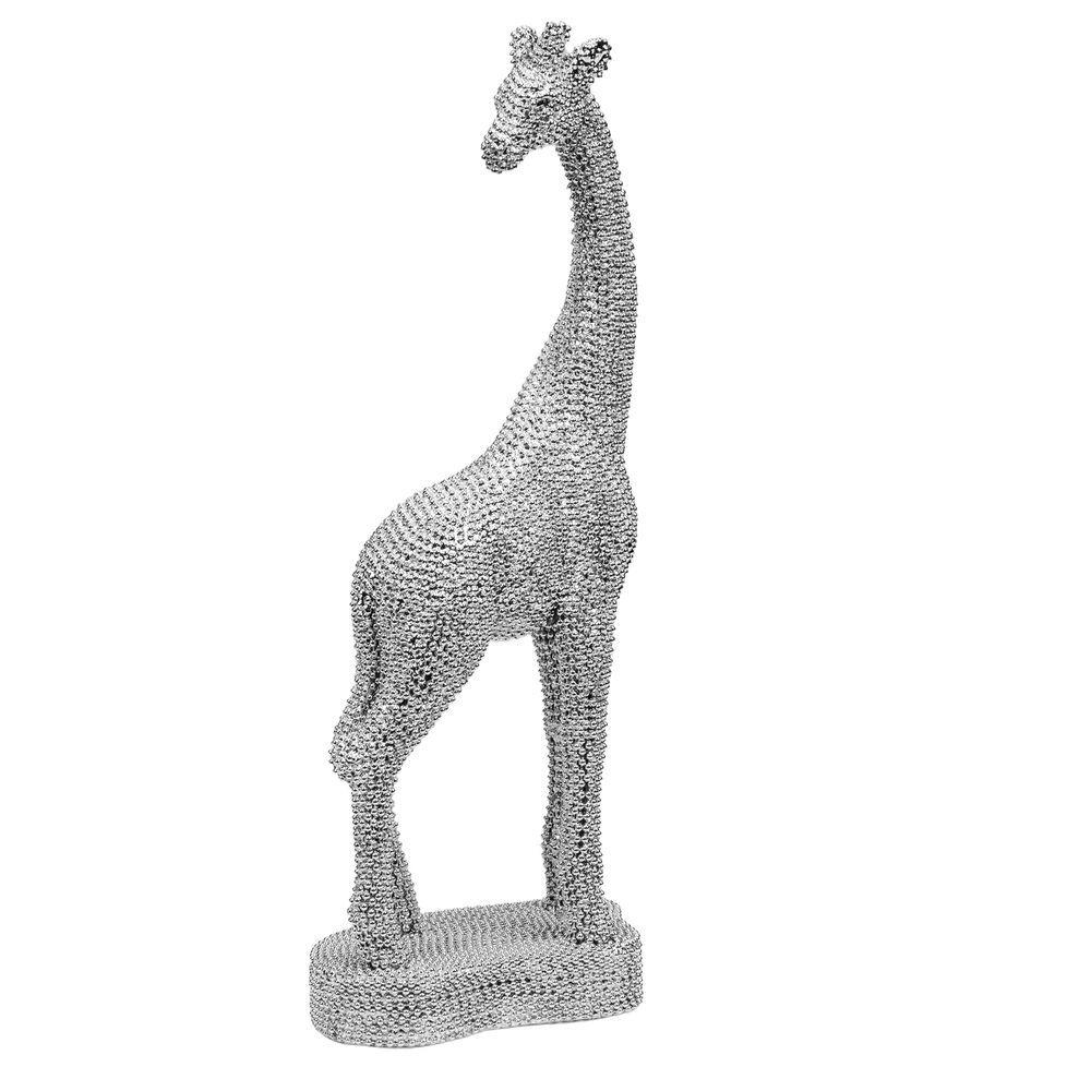 Silver Metallic Effect Giraffe Ornament