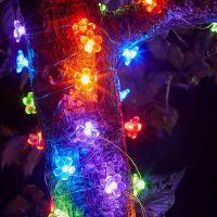 30 Flower Firefly Solar Strings