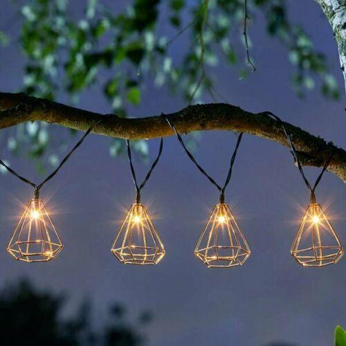 Geometric Solar Powered LED String Lights
