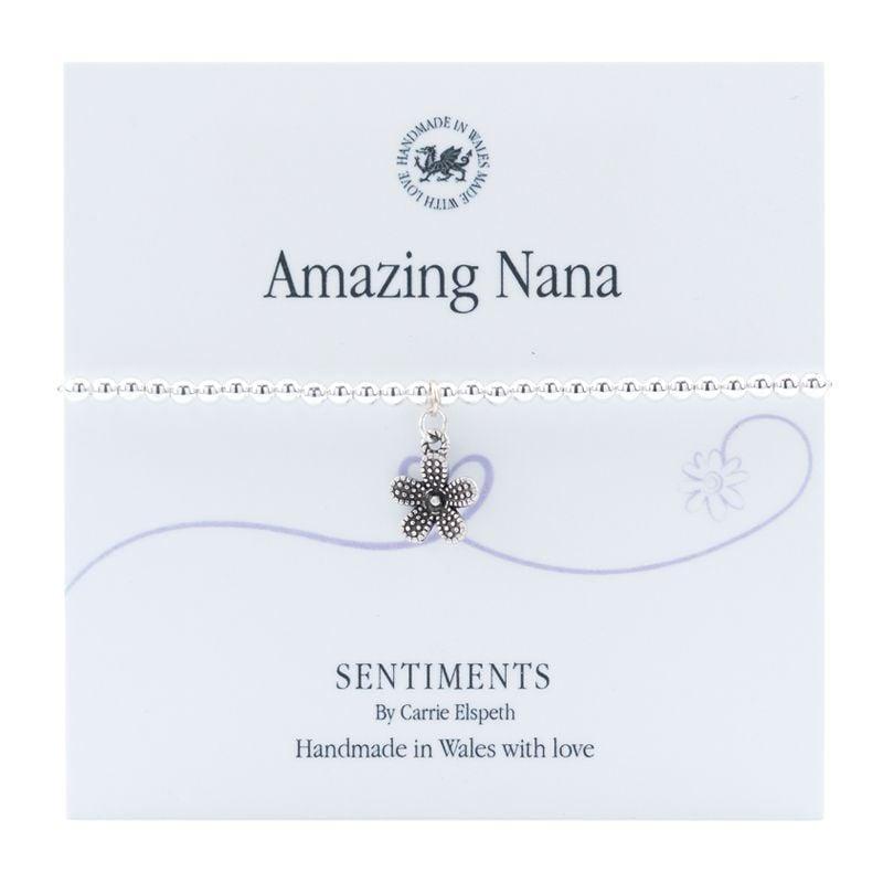 Carrie Elspeth Bracelet 'Amazing Nana' Sentiment Gift Card