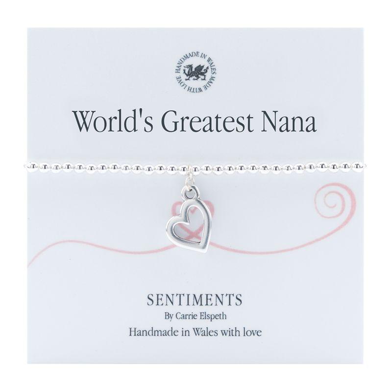 Carrie Elspeth Bracelet 'World's Greatest Nana' Sentiment Gift Card