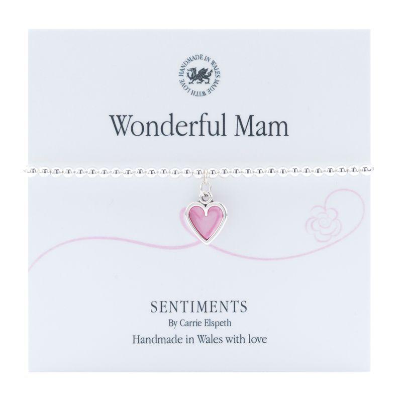 "Carrie Elspeth Bracelet ""Wonderful Mam"" Gift Card Wales"
