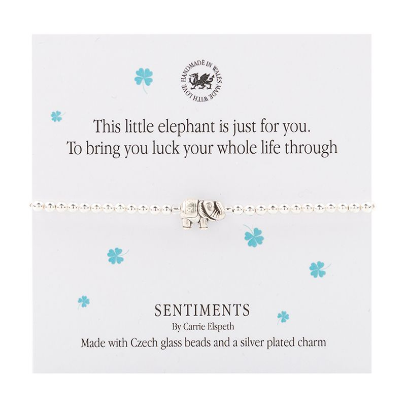 """Carrie Elspeth Bracelet """"This little elephant..."""" Gift Card Wales"""