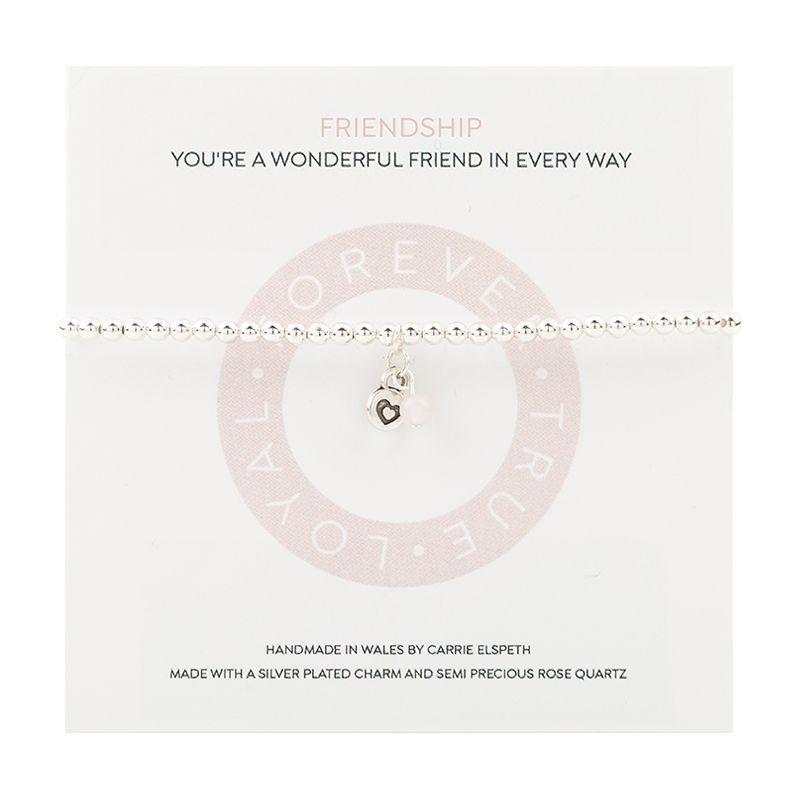 Carrie Elspeth 'Friendship Mantra' Sentiment Bracelet on Gift Card