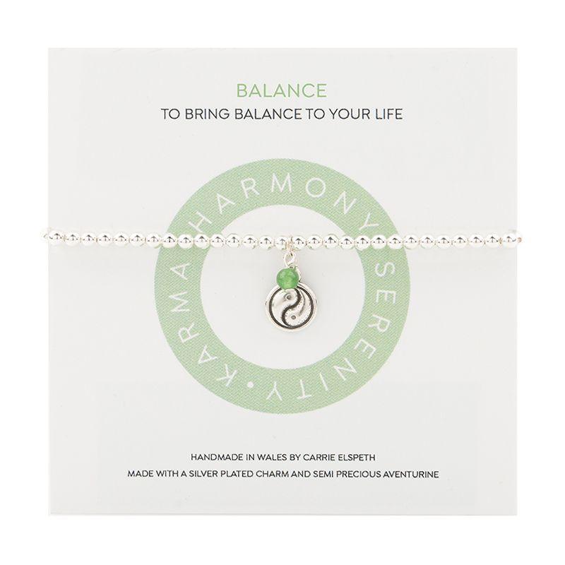 Carrie Elspeth 'Balance Mantra' Sentiment Bracelet on Gift Card
