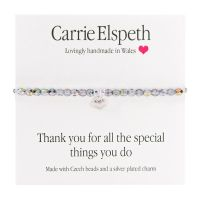 Carrie Elspeth 'Thank you for all the Special Things you Do!' Sentiment Bracelet