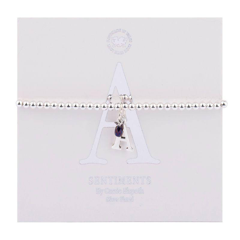 Carrie Elspeth Sentiment Bracelet Letter A
