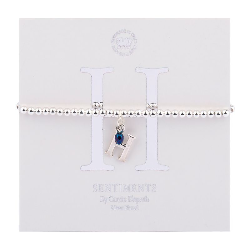 Carrie Elspeth Sentiment Bracelet Letter H