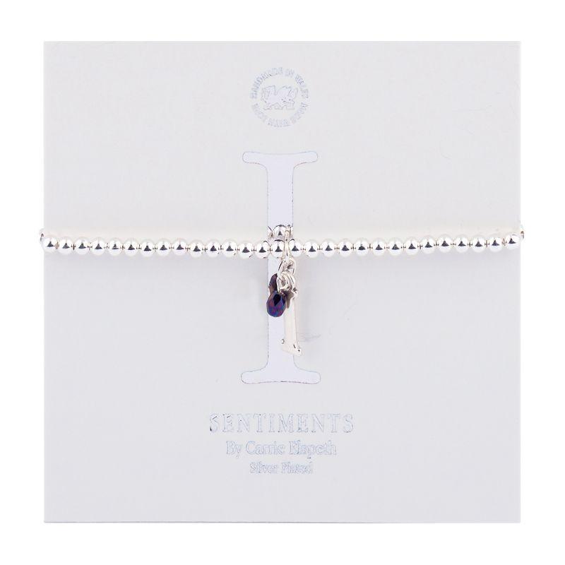 Carrie Elspeth Sentiment Bracelet Letter I