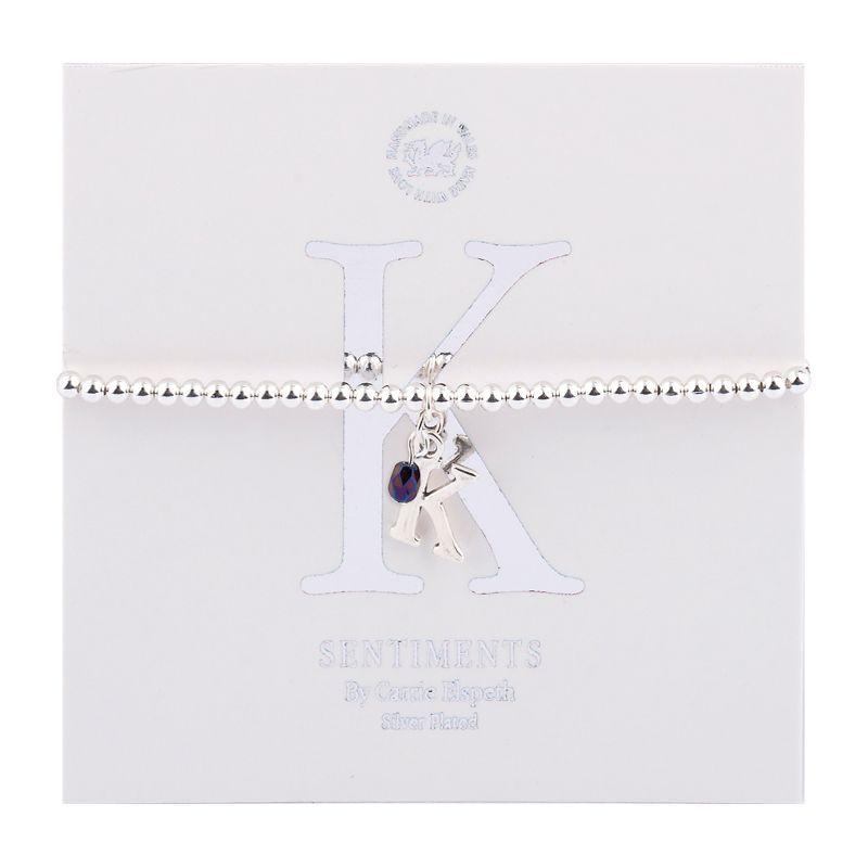 Carrie Elspeth Sentiment Bracelet Letter K