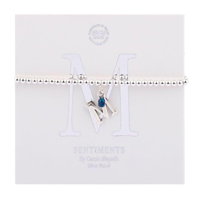 Carrie Elspeth Sentiment Bracelet Letter M