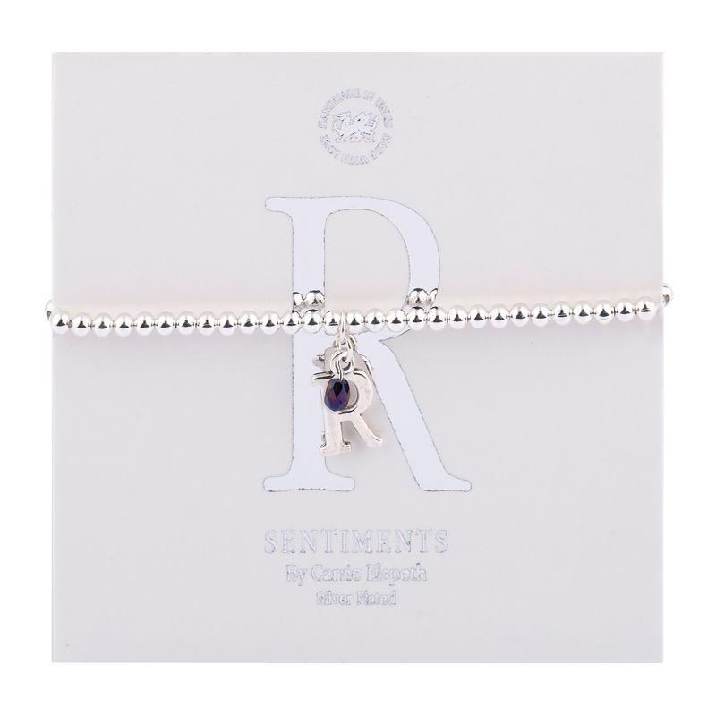 Carrie Elspeth Sentiment Bracelet Letter R
