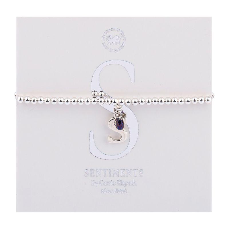 Carrie Elspeth Sentiment Bracelet Letter S