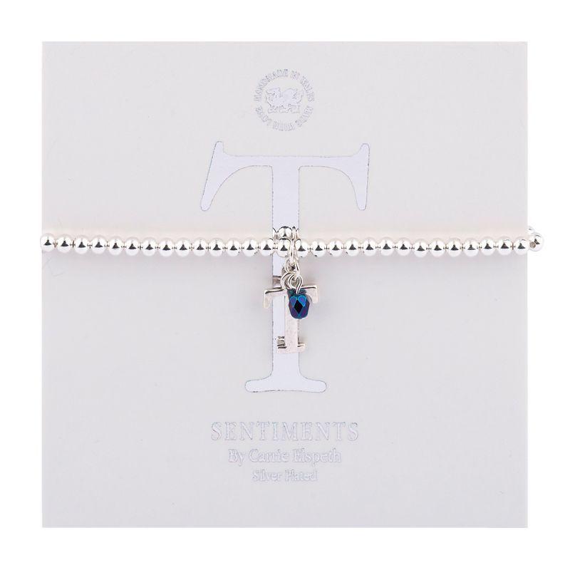 Carrie Elspeth Sentiment Bracelet Letter T