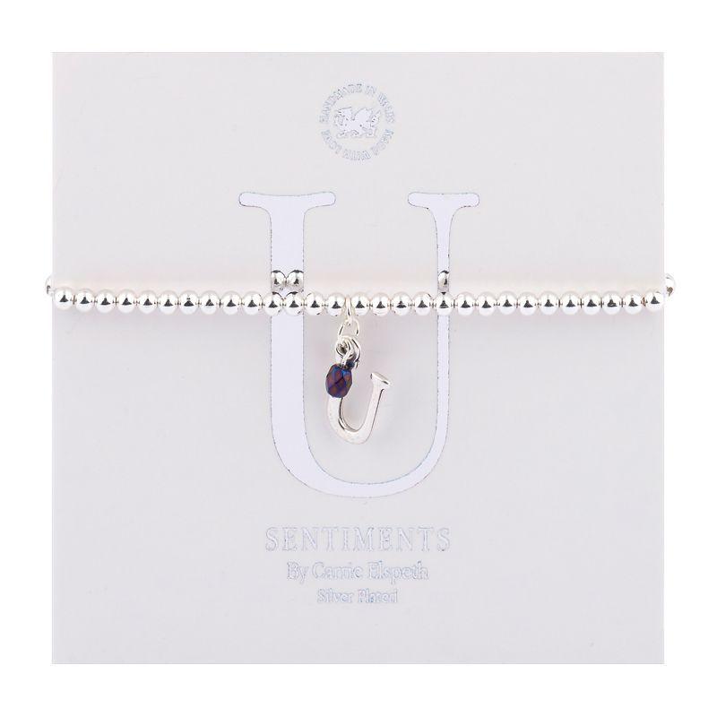 Carrie Elspeth Sentiment Bracelet Letter U
