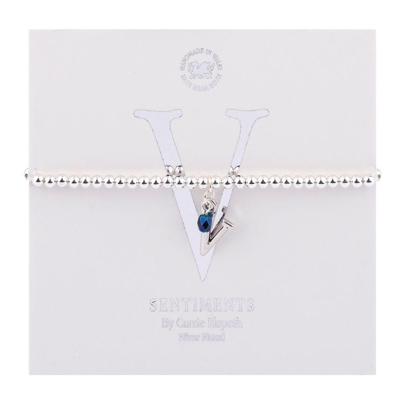 Carrie Elspeth Sentiment Bracelet Letter V