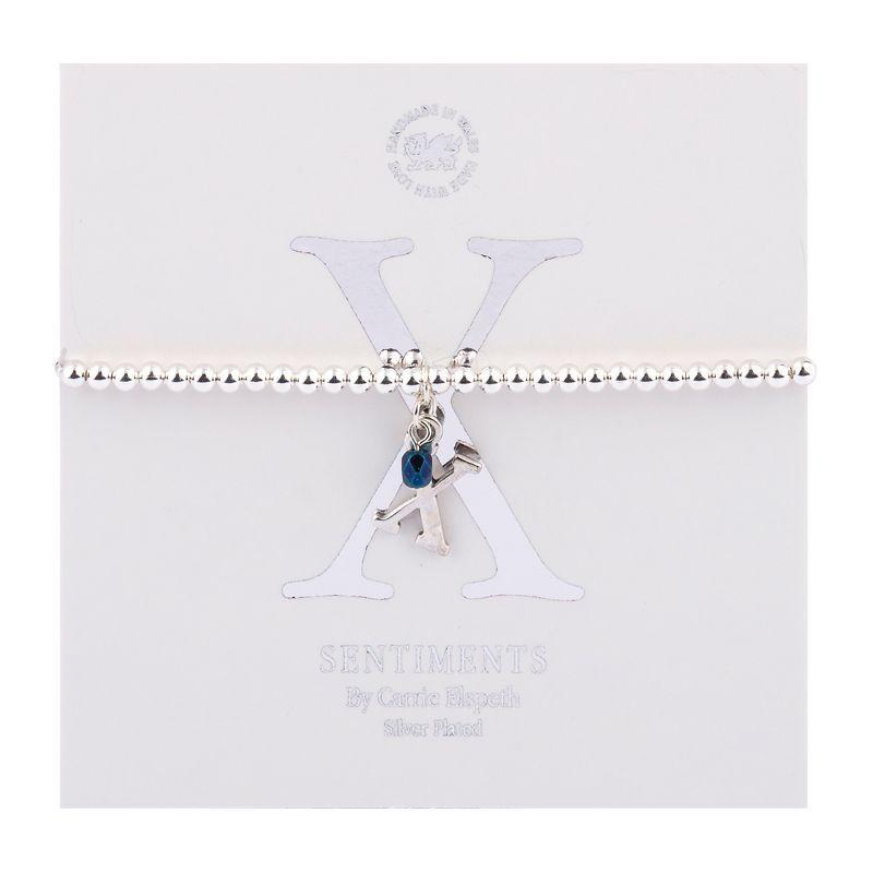 Carrie Elspeth Sentiment Bracelet Letter X