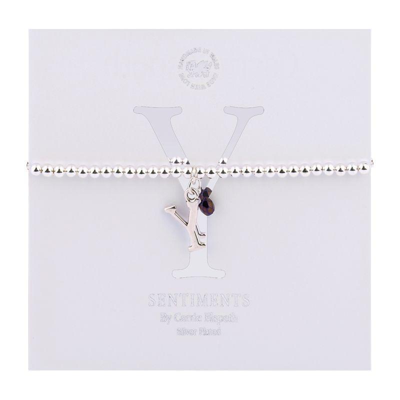Carrie Elspeth Sentiment Bracelet Letter Y