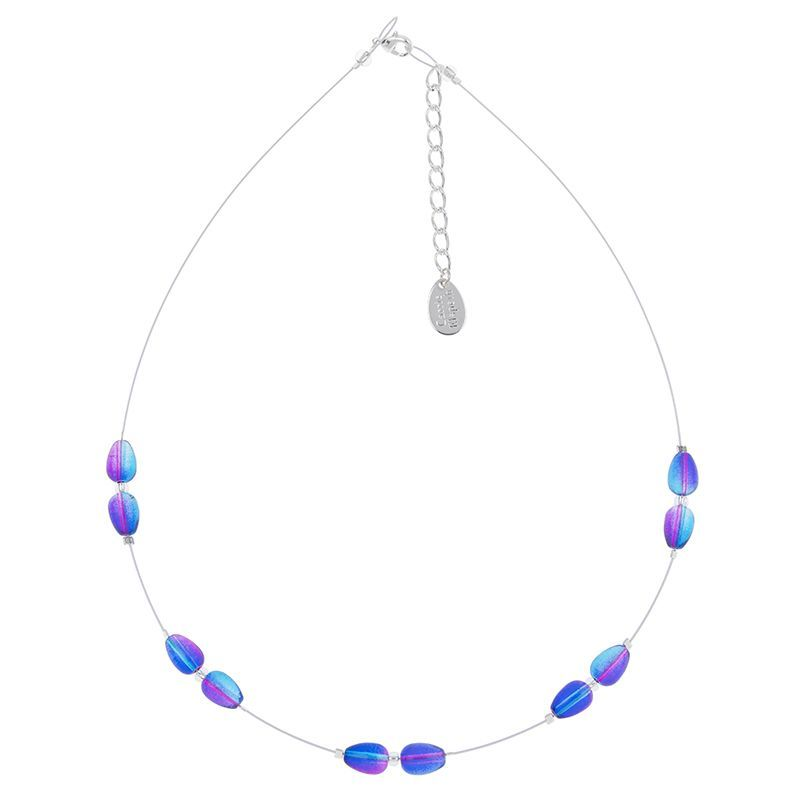 Carrie Elspeth Blue & Pink Pear drops Necklace