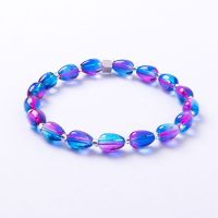 Carrie Elspeth Blue & Pink Pear drops Bracelet