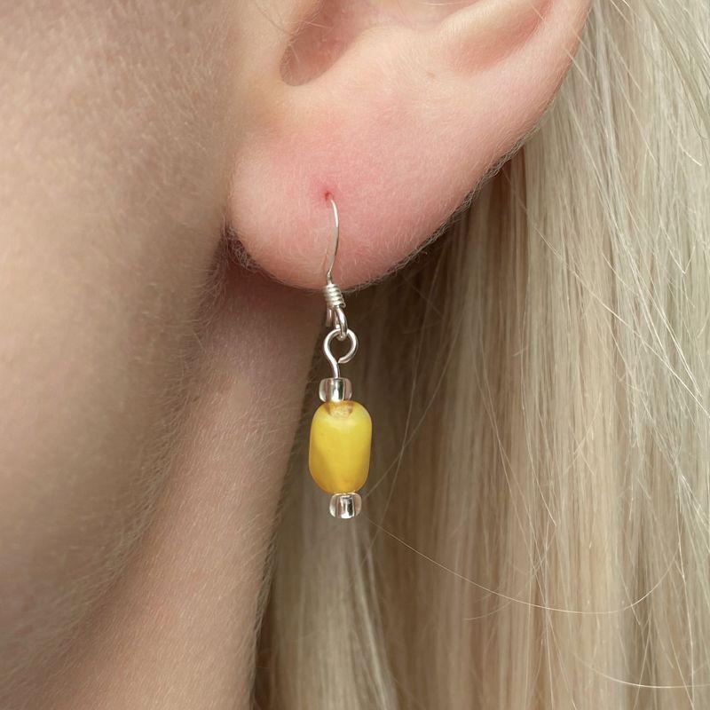 Carrie Elspeth Mustard Strand Earrings