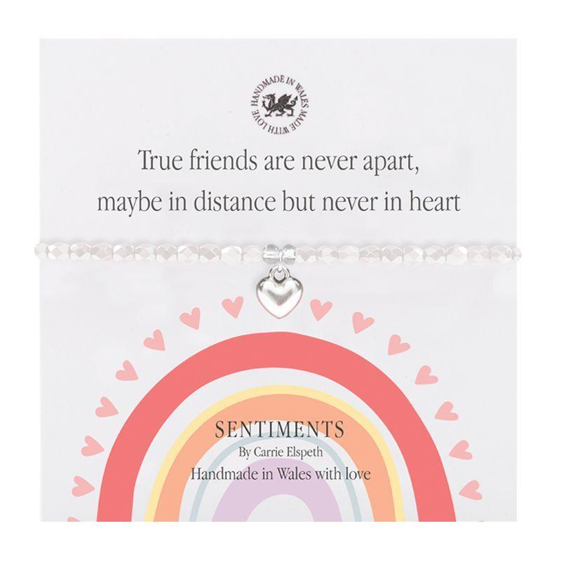 Carrie Elspeth 'True Friends' Rainbow Sentiment Bracelet