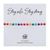Carrie Elspeth 'Stay Safe, Stay Strong' Rainbow Sentiment Bracelet