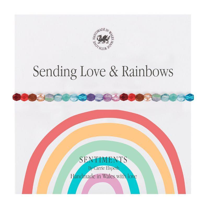 Carrie Elspeth 'Sending Love & Rainbows' Sentiment Bracelet