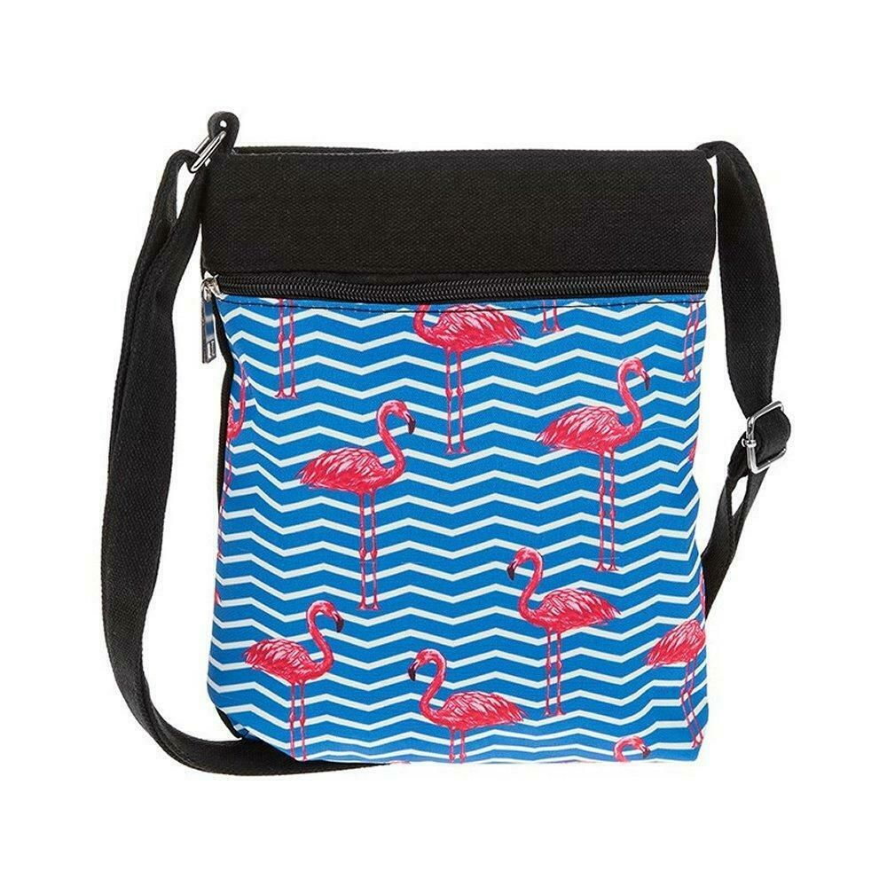 Flamingo Flat Shoulder Bag Blue