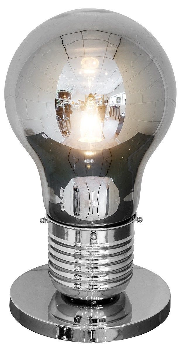 Giant Smoked Grey Bulb Shaped Table Light Lamp 50cm