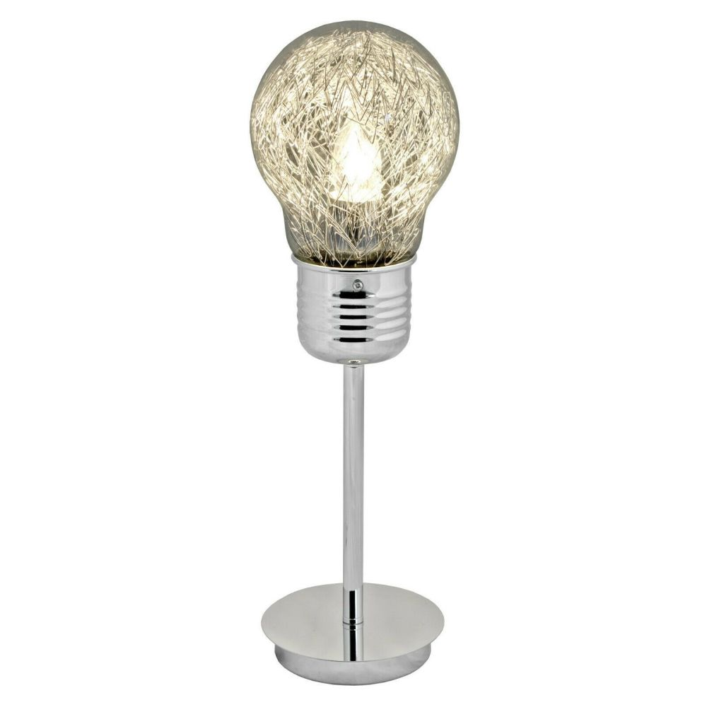 Tall Bulb Shaped Table Light Lamp 49cm