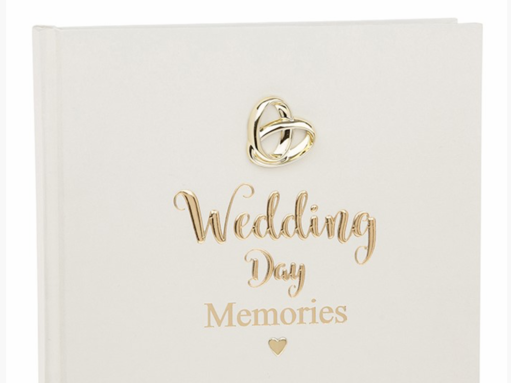 Wedding Day Memories Bands of Gold 4 x 6 Photo Album 50 picture