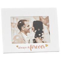 Gold Heart Always & Forever Wedding Photo Frame 7x5