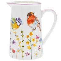 British Garden Birds China Milk Or Cream Jug